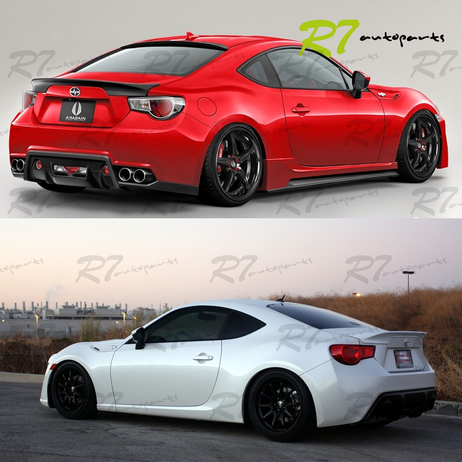FOR 13 17 FRS 86 BRZ PU JDM TRD STYLE DUCKTAIL REAR TRUNK TOP
