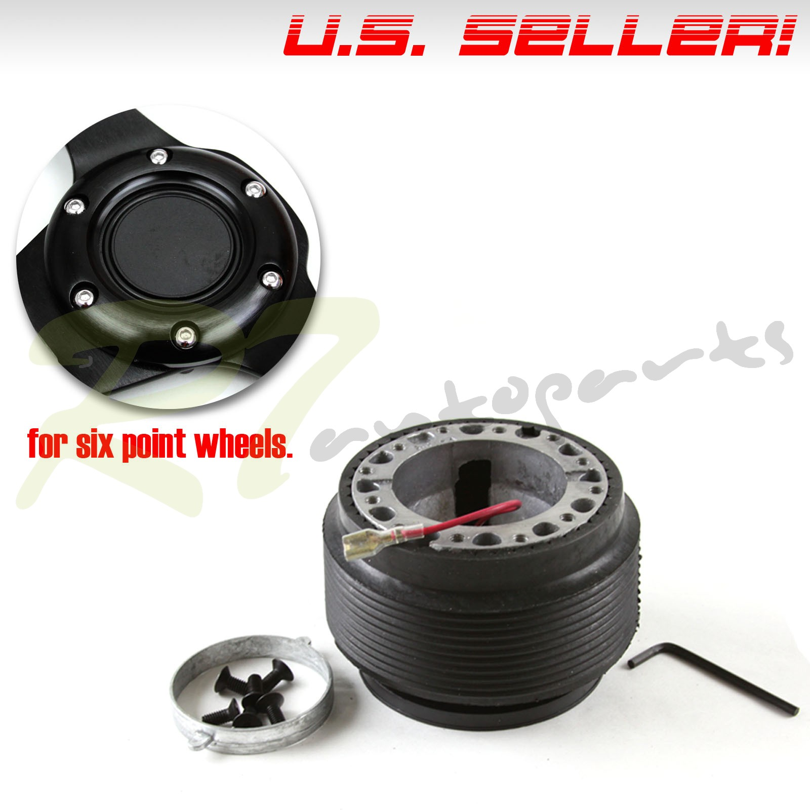 For 95 98 nissan 240sx s13 s14 6 bolts direct fitment steering image is loading for 95 98 nissan 240sx s13 s14 6 sciox Choice Image