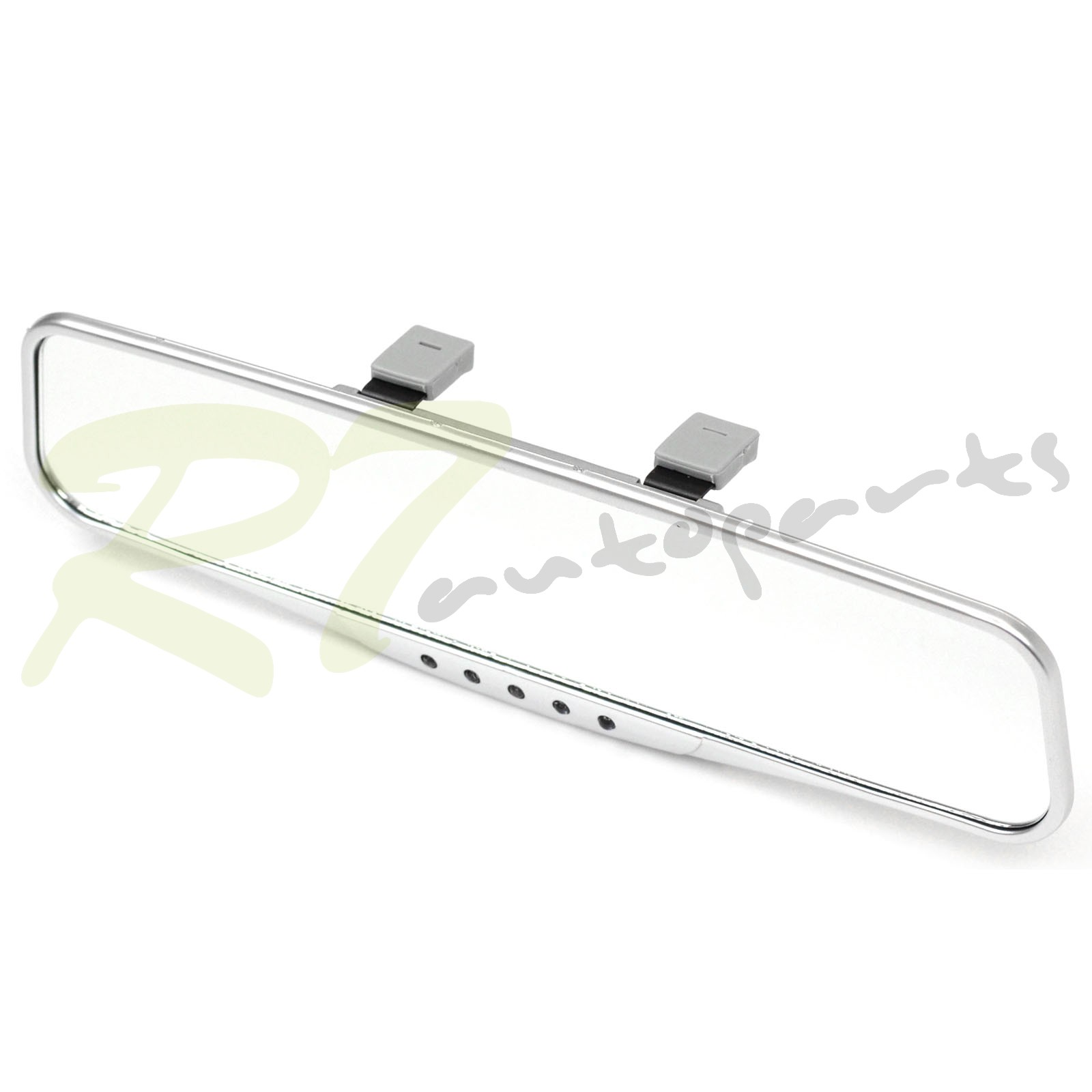 Universal chrome compass thermometer Interior flat Wide Clip On Rearview Mirror